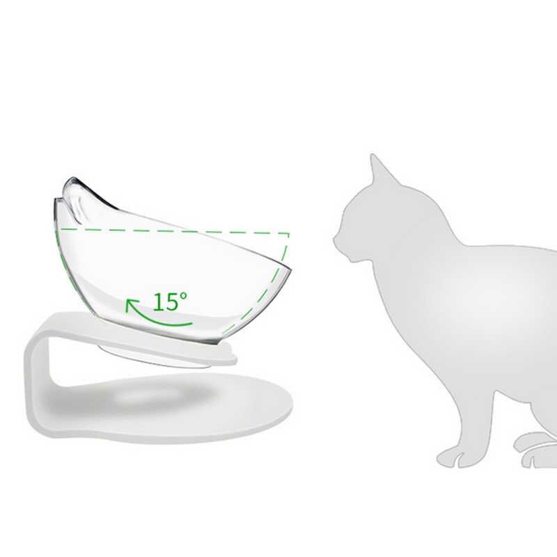 Kaymaz kedi kase çift kase yükseltilmiş standı evcil hayvan maması ve su kaseleri kediler köpekler besleyiciler kedi kase Pet malzemeleri köpek Pet