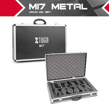 XTUGA MI7 7-Piece Wired Dynamic Drum Mic Kit (Whole Metal)- Kick Bass, Tom/Snare & Cymbals Microphone Set - Use For Drums, Vocal - DISCOUNT ITEM  5% OFF All Category