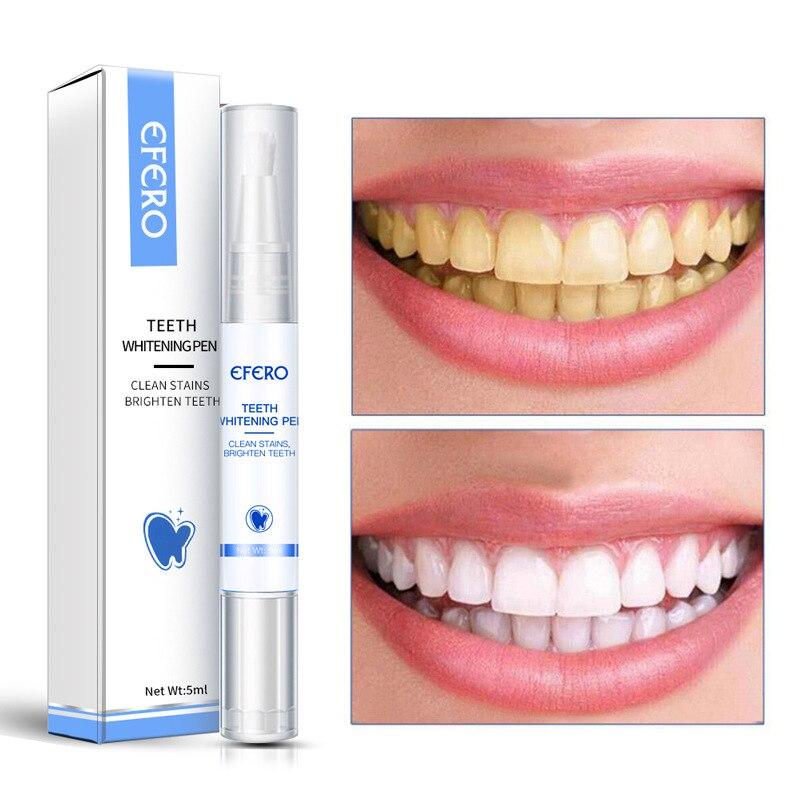 EFERO Teeth Whitening Essence Powder Teeth Whitening Pen Oral Hygiene Effective Remove Stains Plaque Teeth Bleaching Dental Tool