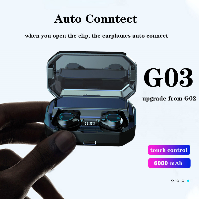 G03 TWS 5.0 Bluetooth Earphone True Wireless for Samsung Galaxy A3 A5 A7 A9 2017 2016 A8 2018 Music Earbud Charging Box image