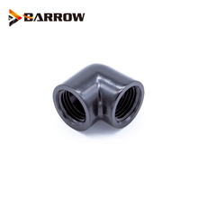 BARROW Gold Black Silver  double internal G1/4'' thread 90 degree Fitting Adapter water cooling Adaptors water TDWT90SN-V2 barrow white black silver g1 4 special edition black hand tighten water stop water cooling fitting tds 01