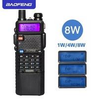 Upgrade 8W BaoFeng UV 5R Walkie Talkie VHF/UHF Handy Dual Band CB Two Way Radio Transceiver 3800mah Li thium Battery