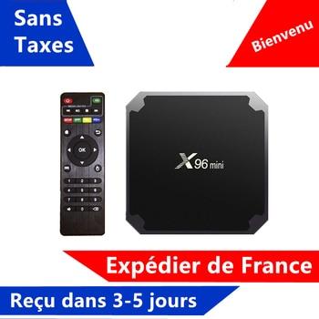 Best X96 mini iptv box android tv box 1G 8G 2G 16G support x96mini media player smart ip tv set top box ship from france