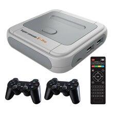 Console de jogo super x pro 4k hd retro para psp/ps1/dc/n64 suporte de console de jogos de vídeo 2 jogador com 50000 jogos kodi