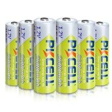 6 × بطاريات PKCELL AA ni mh 2A 1.2 فولت 2600 مللي أمبير نيمه AA بطارية قابلة للشحن بطاريات Baterias Bateria