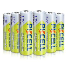 6 X PKCELL AA Batteries Ni MH 2A 1.2V 2600mAh NIMH AA Rechargeable Battery Baterias Bateria Batteries