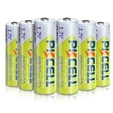 6 X PKCELL AA piller Ni MH 2A 1.2V 2600mAh NIMH AA şarj edilebilir pil Baterias Bateria piller