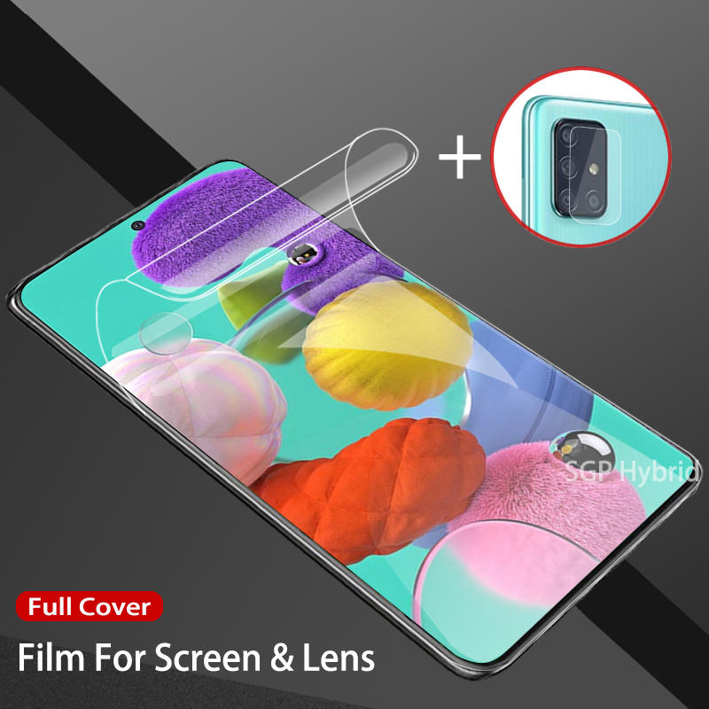 Hydrogel Film For Samsung Galaxy A71 A51 A 71 51 Sticker Hydrogel Screen Protector For Samsung A71 A51 Water Gel Film Not Glass
