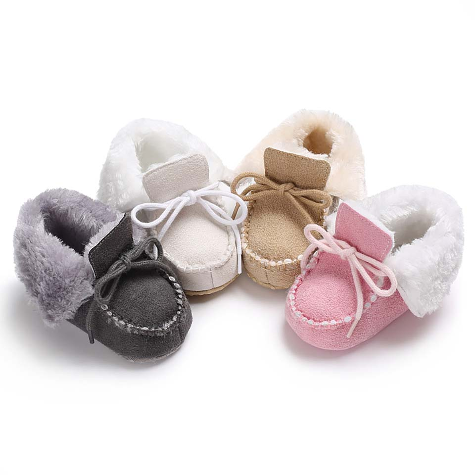 Baby Boy Shoes Girl First Walkers Toddler Baby Solid Shoes Newborn Soft Sole Crib Shoes Anti-Slip Lace Up Footwear Kid Booties