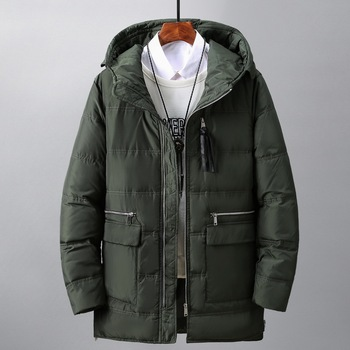 Winter Down Jacket Men White Duck Feather Filling Down Coat Hooded Outwear Plus Size High Quality Thick Warm Overcoat цена 2017