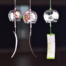 Японский стиль, рождественские украшения, стекло, Висячие колокольчики, ветроловка ручной работы, Рождественский подарок на день рождения, домашний декор