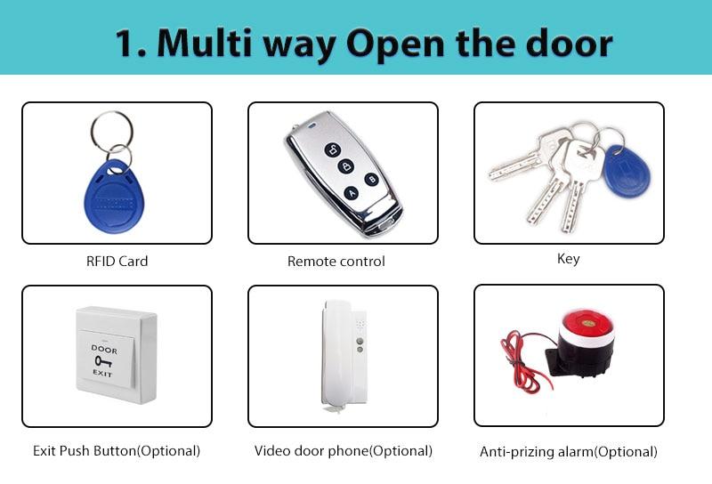 H651e1fc057114fdbab75eadd9c7f74beI AA Dry Battery Easy Install Smart Lock RFID Electronic Locker Door Lock Wireless Rfid Electronic Battery Proximity Card Lock