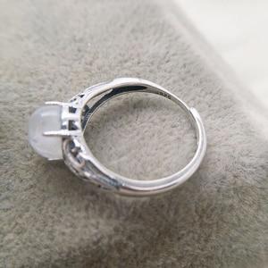 Image 4 - 7mm x 9mm טבעי מונסטון 925 כסף חלול אינפיניטי טבעות נשים חתונת אירוסין בציר תכשיטי אצבע bague