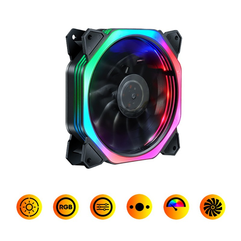 Hot <font><b>120mm</b></font> PC Computer 16dB Ultra <font><b>Silent</b></font> 15 LEDs Case <font><b>Fan</b></font> Heatsink Cooler <font><b>Cooling</b></font> image