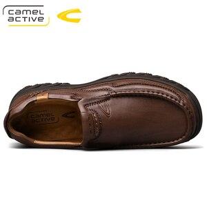 Image 4 - גמל פעיל חדש אמיתי עור גברים של נעלי אופנה חדשה סט רגל רך עור פרה קל משקל לנשימה נעליים יומיומיות גברים לופרס