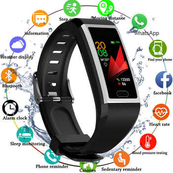 Smart Wristband Fitness Bracelet Waterproof Fitness Tracker Watch Blood Pressure Weather Display Smart Bracelet Watch Women Men - DISCOUNT ITEM  37% OFF All Category