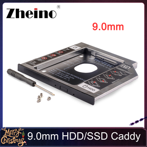 Zheino Aluminum 9.0mm 2nd HDD SSD Caddy 2.5 SATA to SATA Frame Caddy HDD Case Adapter Bay For notebook Laptop CD/DVD-ROM ODD(China)