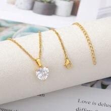 Блестящее циркониевое ожерелье с любовным сердцем ювелирные
