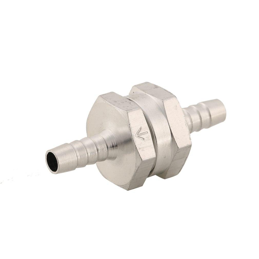 1Pc Aluminium Check Valve 6mm Fuel Non- Return Inline Check Valve Vacuum Hose One Way For Automobile Vehicle Carburettor