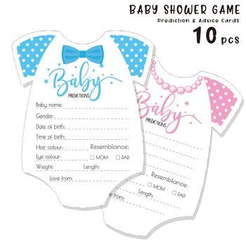 10 Pack porady i przewidywania karty dla Baby Shower gra rodzic wiadomość porady książka zabawa płeć neutralny prysznic Party tanie i dobre opinie Unisex W wieku 0-6m 13-24m 7-12m 25-36m 3-6y CN (pochodzenie) Durable Cardstock 10 Pcs
