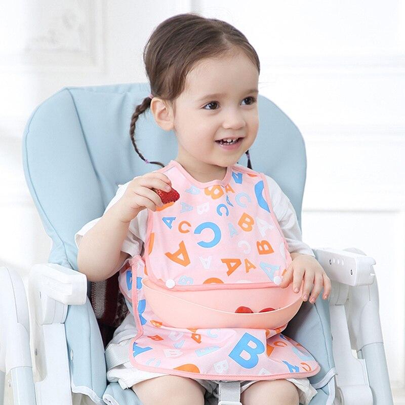 Summer Baby Bibs Waterproof Printing Sleeveless Child Apron Silicone Bib Feeding Cloth Infant 2021 Newborns Accessories New
