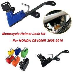 CB1000R Motorcycle Helmet Lock with 2 Keys fit for Honda CB1000 R  CB 1000R 2008-2016 2012 13 14 15 Aluminum 6 color Helmet Lock