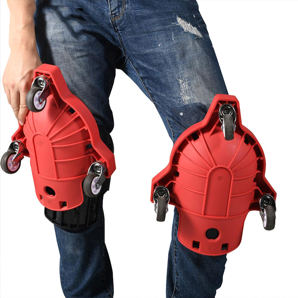 1pcs Knee Pads Rolling Wheels Mobile Flexible Gliding Protection For Work Construction Job Site VDX99
