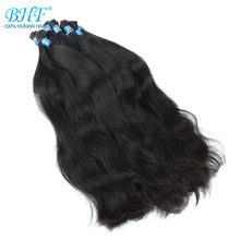 BHF 100% Human Braiding Hair Bulk Machine Made Remy Straight No Weft Bundles Natural Braiding Hair Extensions(China)