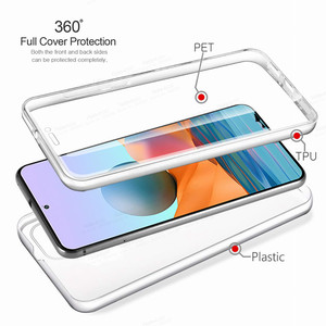 Image 2 - 360° Front Back Transparent Case For Xiaomi Redmi Note 10 Pro 10s Xiomi Redme Nota 9 8 T 8T 9T 7A 7 9A Phone Cover Protect Coque