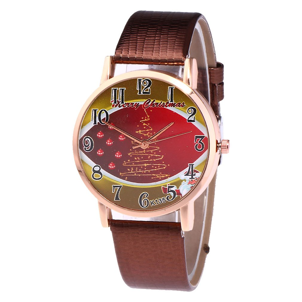 Classic Elegant Round Colorful Dial Leather Strap Quartz Wrist Watch For Women Girls Valentine Christmas Students Business 2018