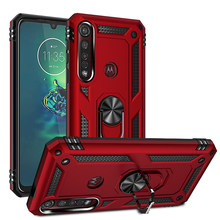 Funda con soporte para Motorola Moto G8 G7 Plus G6 G7 Play, funda trasera con armadura de anillo para Moto One Macro Action Zoom E5 E6Plus P40 Power(China)