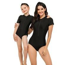 Купальники на молнии для мамы и дочки Семейные костюмы серфинга