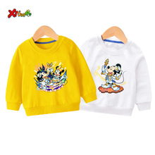 Baby Girls sweatshirts toddler boy hoodie Pullover Minnie Mouse Animals Printed cute long sleeves children  kids new fashion 2T