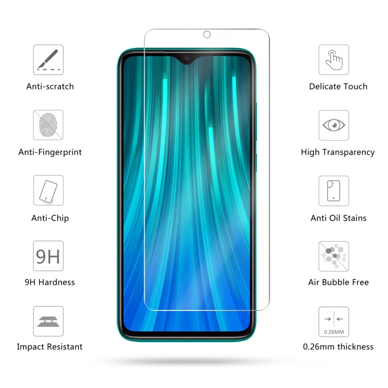 Image 2 - 2 Pcs Tempered Glass For Xiaomi Redmi Note 8 / Note 8 Pro Screen Protector 9H Tempered Glass For Redmi Note 8 Protective Film-in Phone Screen Protectors from Cellphones & Telecommunications