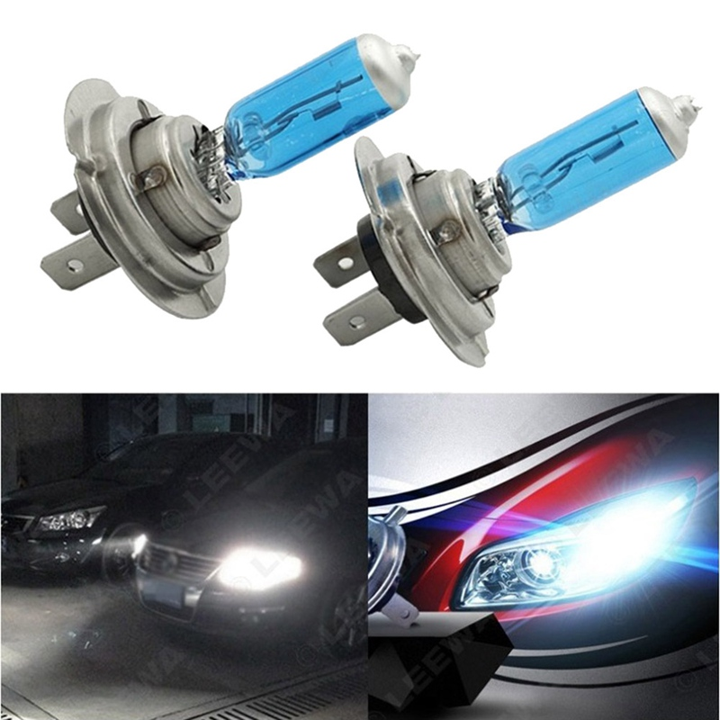 Car Bulb H1 H7 H11 Super Halogen White Headlights 55W 100W Quartz Glass Lamp Car Accessories Auto Products