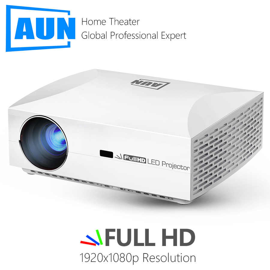 AUN Penuh HD Proyektor F30UP. 1920x1080P. 6,500 Lumen, Android 6.0 (2G + 16G) , LED Proyektor 3D Video Home Cinema, beamer untuk 4K.