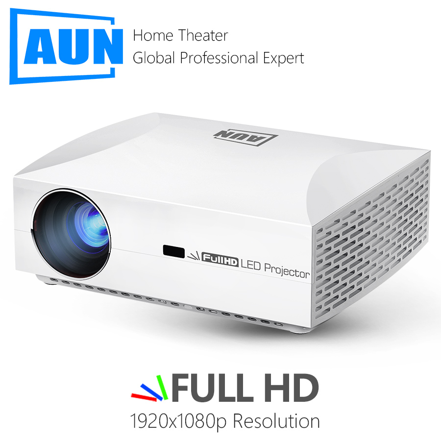 AUN Full HD Projector F30UP. 1920x1080P. 6,500 Lumens, Android 6.0 (2G+16G) , LED Projector 3D Video Home Cinema, Beamer For 4K.