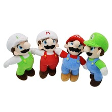 NEW 10'' 24cm Super Mario plush dolls Super Mario Soft Plush Mario Luigi mario bros plush toys for children mario lanza mario lanza best of