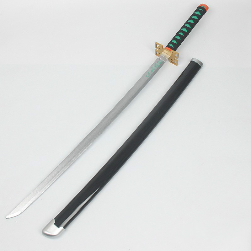 100cm Blade Of Ghost Cos Performance Round Wooden Sheath Around Weapon Animation Collecting Hobby Gifts For Children