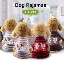 Собака пижамы домашнее животное; сезон весна-лето комбинезон для щенка дома Услуги одежда для домашних питомцев; Кошки Одежда, Пижама для детей Combinaiso