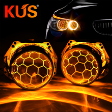 3.0 Inch Bi Xenon Projector Lens Honeycomb Blue Coating Hella 3R G5 Metal Holder D1 D2 D3 D4 Bulbs For Car Headlight Retrofit