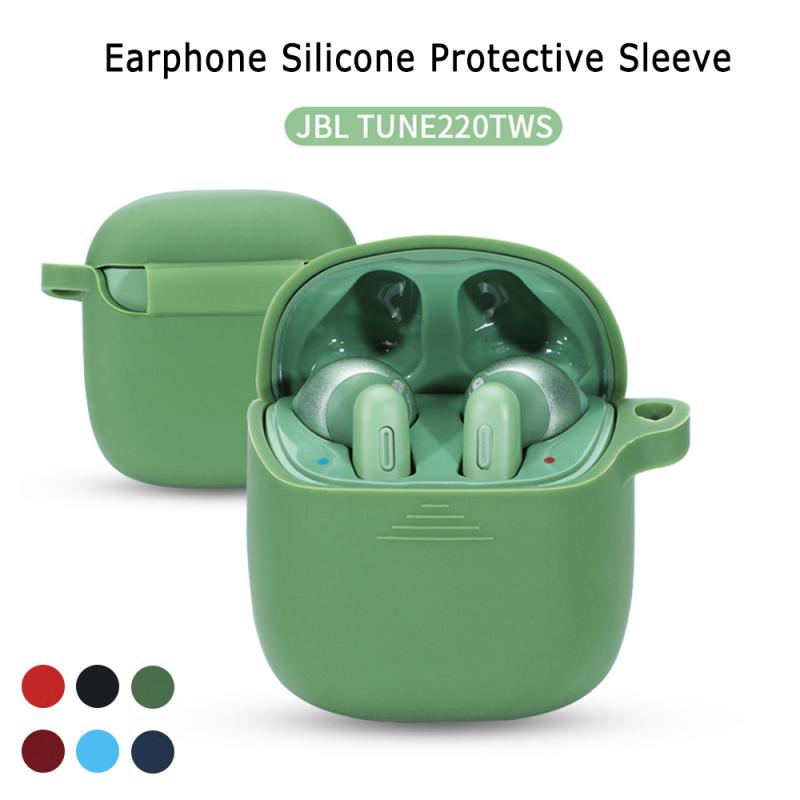 TWS silicone solid color protective <font><b>case</b></font> <font><b>bluetooth</b></font> <font><b>headset</b></font> protective <font><b>case</b></font> For JBL tune 220 image