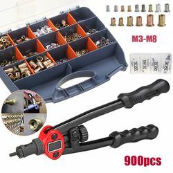 Mano remache roscado loco armas con nueces 605 doble 606 insertar Manual remachadora fascinante Rivnut herramienta para M3/M4/M5/M6/M8/M10/M12 tuerca