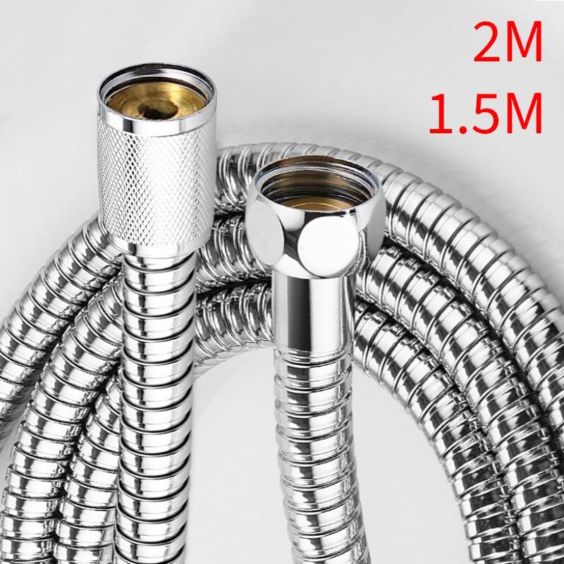 Tuyau de douche de 1.5M/2M, tuyau de plomberie en acier inoxydable, Tube de pluie pour salle de bains, accessoires