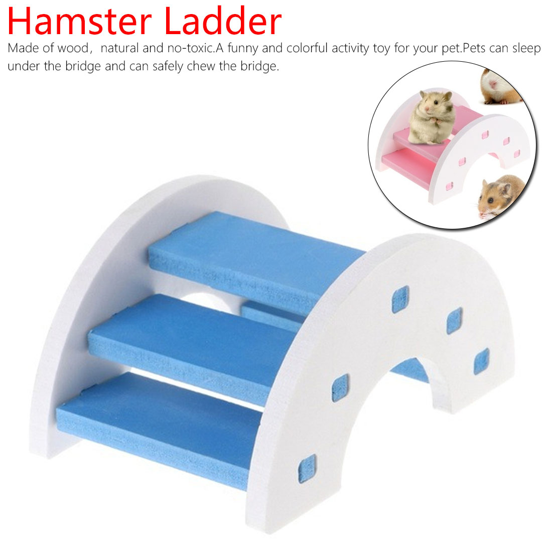 Wooden Bridge Hanging Toys Cute Hamster Ladder Natural Wooden Bridge Pet Toys for Small Animals Cage Accessories Pet Product
