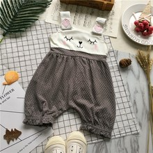 Tonytaobaby Neue Stil Baby Joint Grau Polka Dot Bunny Nette Baby Kleidung Baby Kleidung Mädchen(China)