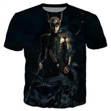 Neue klassische Loki serie t hemd frauen 3D gedruckt neuheit mode T-shirt hip-hop street casual season top