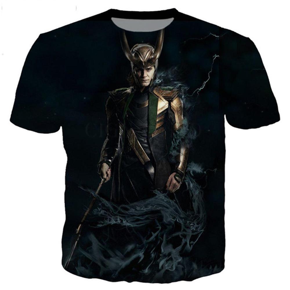 Neue классише Локи Серия t hemd; frauen 3D gedruckt neuheit режим футболка в стиле хип-хоп уличный стиль; Повседневный; Сезон; Топ