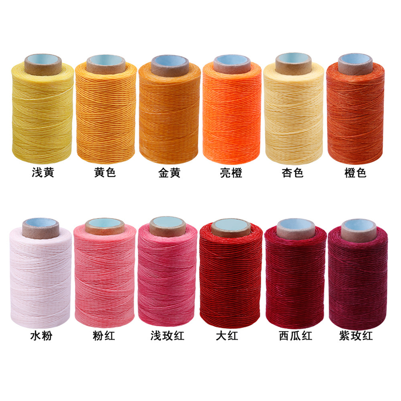1 Roll Leather Craft Tools Sewing Flat Waxed Thread Color Hand Cords Stitching