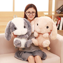 40cm Rabbit Plush Toy Backpack Cute Plush Rabbit Backpack Stuffed Plush Rabbit Kids Toys Girls School Bag Gift For Little Girl cute rabbit plush backpack cartoon stuffed plush doll children school bag gifts for kids